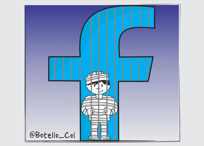 Caricatura: ¡Atrapados en la red!