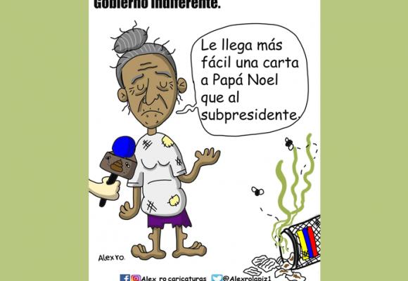 Caricatura: Gobierno indiferente
