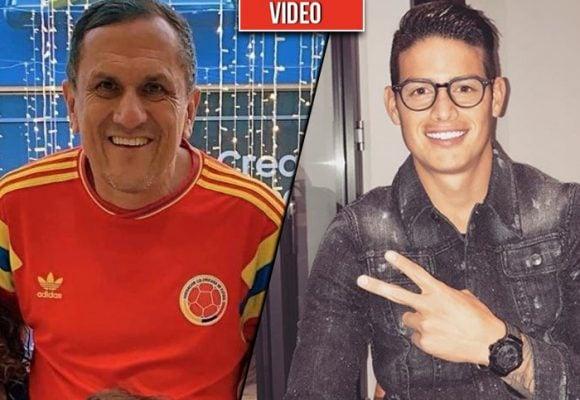 VIDEO: Por estar enrumbado James se pierde el funeral del papá de Daniela Ospina