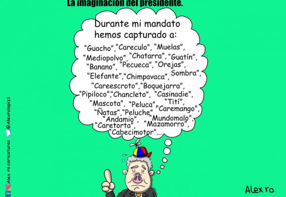 Caricatura: La imaginación de Duque