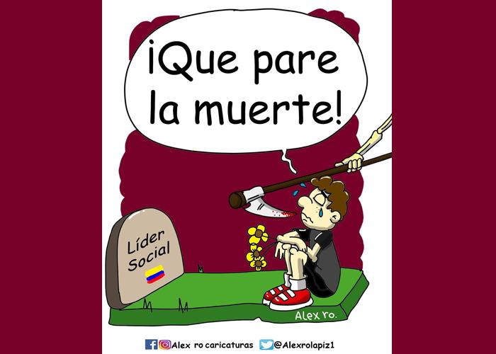 Caricatura: ¡Que pare la muerte!