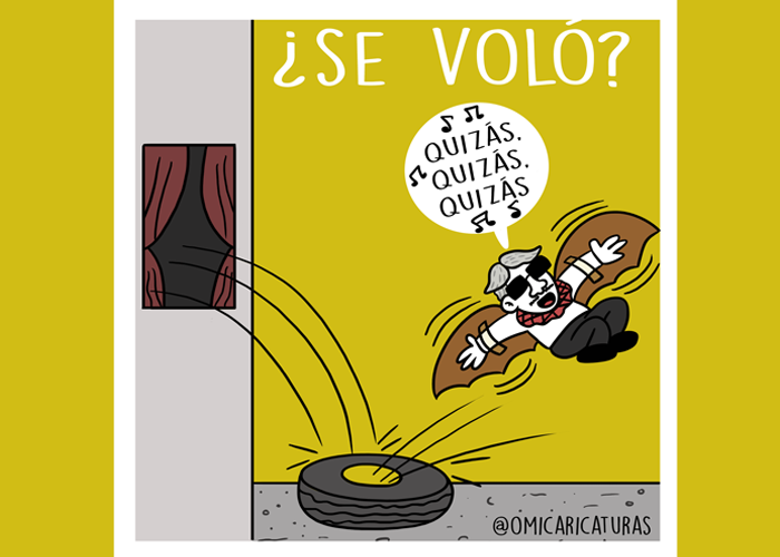 Caricatura: ¿Se voló Santrich? Quizás, quizás, quizás
