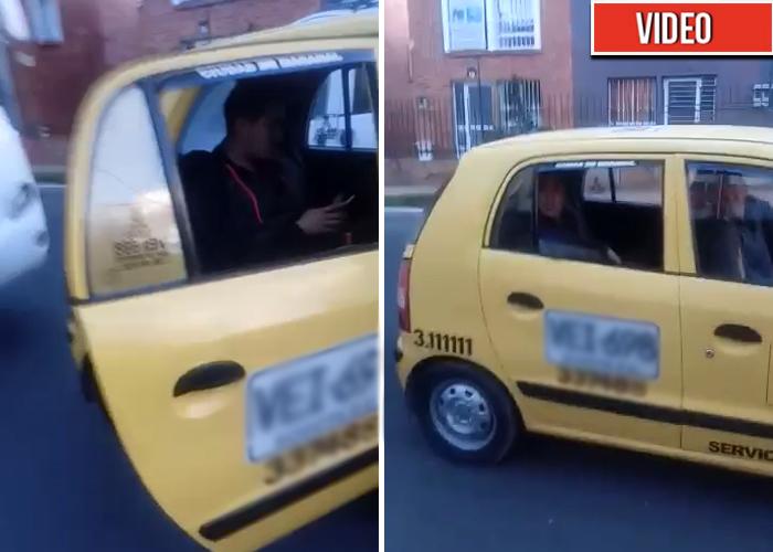 Taxistas no paran de amenazar a los pasajeros en el paro. Video