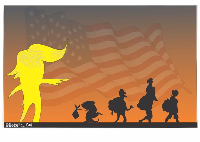 Caricatura: Trump y su fobia por los inmigrantes