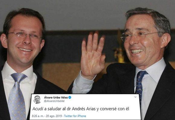 El reecuentro entre Uribe y Andrés Felipe Arias