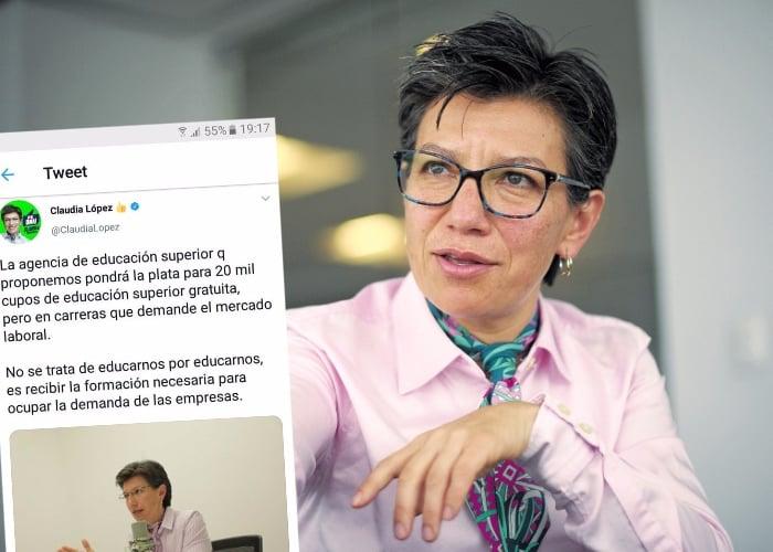 El video que desmiente a Claudia López por trino que borró