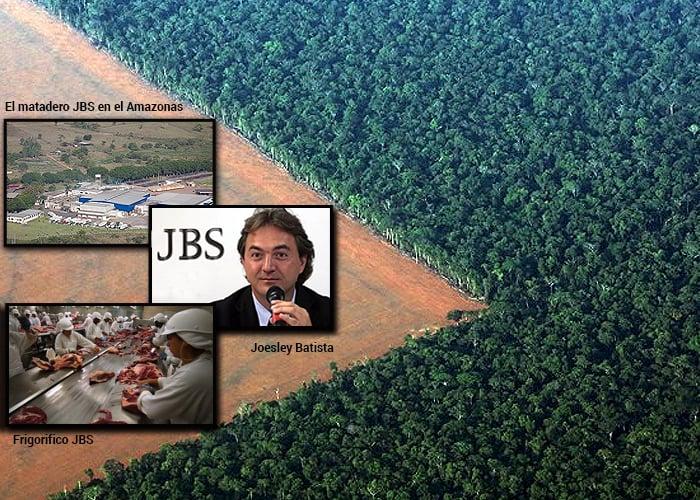 La empresa ganadera brasilera JBS que está destruyendo la Amazonía