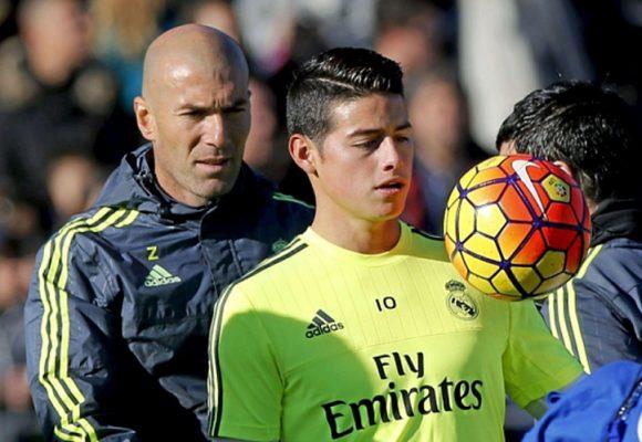 Arrancó el plan de Zidane para acabar con James Rodriguez