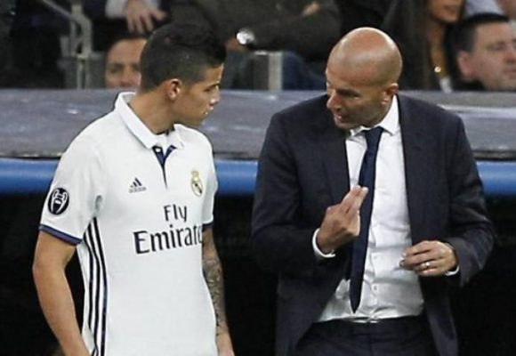 Otra vez James le queda mal a Zidane