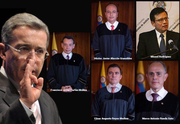 Los 5 jueces que definirán el futuro judicial de Uribe