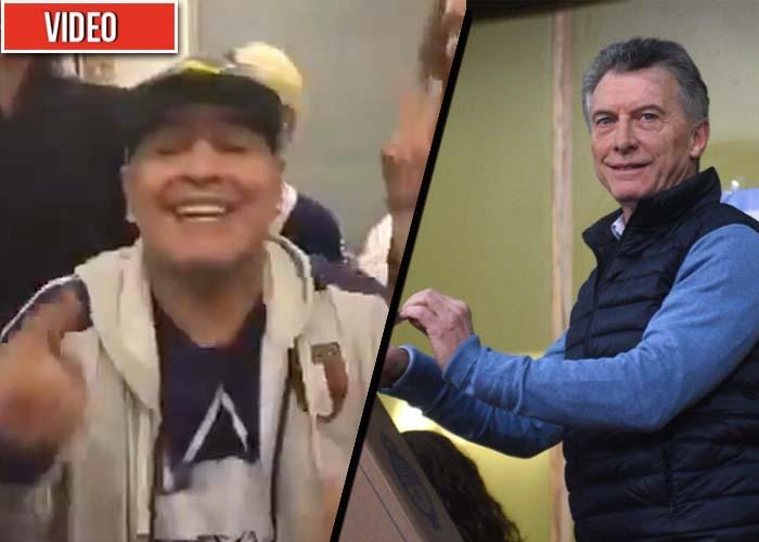 """""""Macri, te queda poco"""": el desafío de Maradona al presidente de Argentina"""