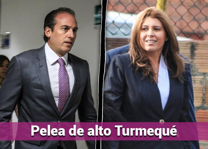 Cara a cara de los exesposos Diego Pardo y Margarita Herrera