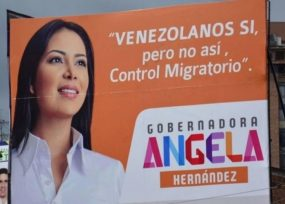 La valla del uribismo en Bucaramanga que pone al margen a los venezolanos