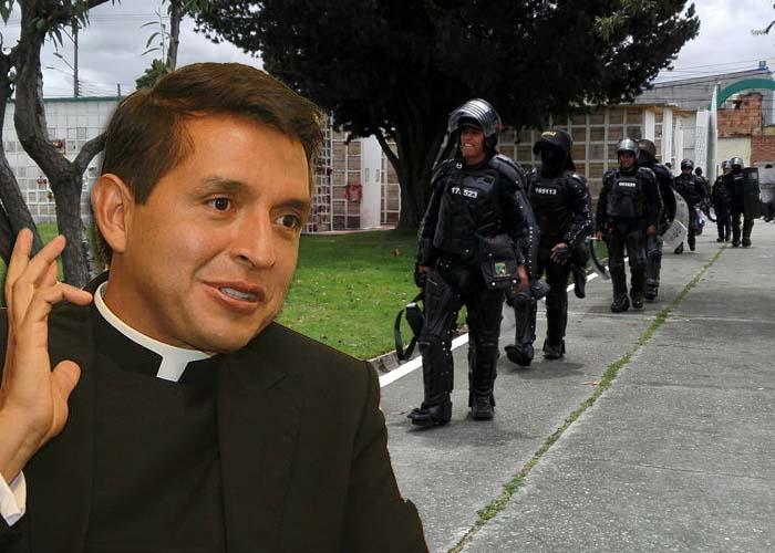 Al padre Chucho y a otros 80 sacerdotes casi los linchan en el cementerio de Fontibón
