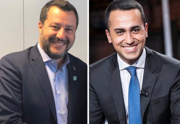 Salvini y Di Maio, cerca del colapso en Italia
