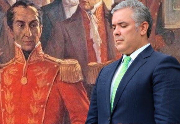 El bicentenario y la distancia de Bolívar a Duque