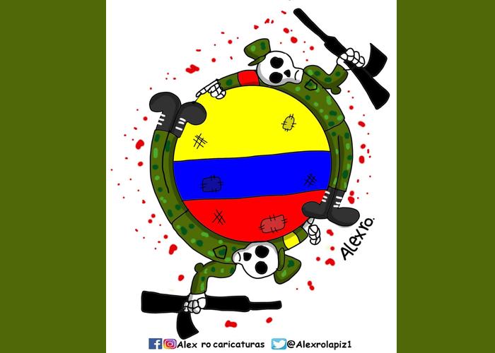 Caricatura: El círculo vicioso de la violencia