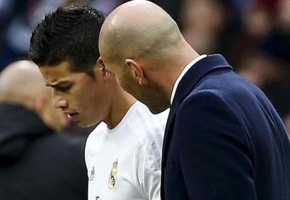 La cobardía de James con Zidane