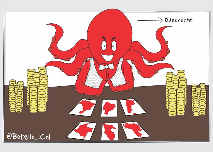 Caricatura: El pulpo de la corrupción que atacó a Sudamérica