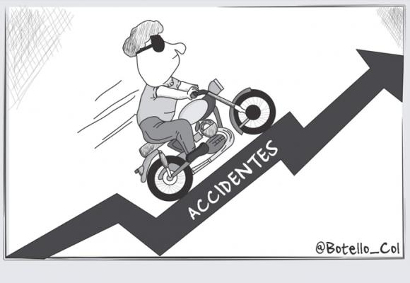 Caricatura: En aumento, los índices de accidentabilidad en moto
