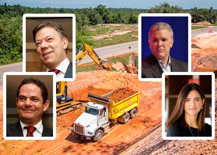 En qué van las 29 autopistas 4G que iniciaron Santos y Vargas Lleras