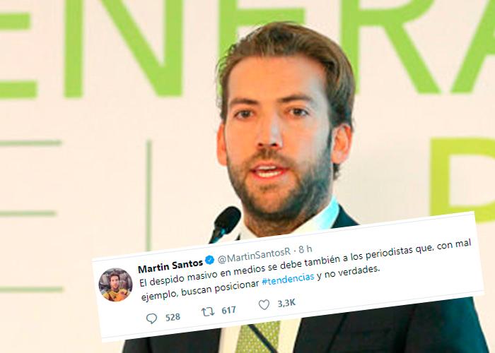 ¿Martín Santos justifica el despido masivo de periodistas de El Tiempo?