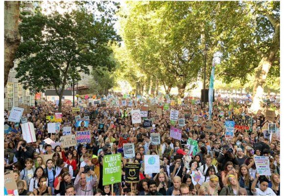 Millones de personas marchan en contra del cambio climático