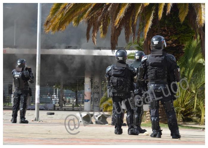 Esmad vs. Universidad Nacional. En fotos.