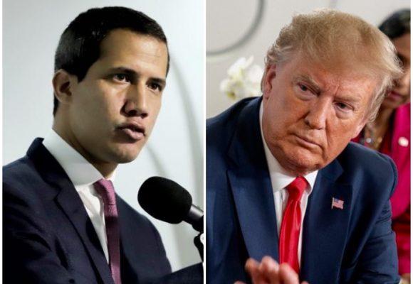 EE. UU. tranquilo con fotos de Guaidó y Rastrojos