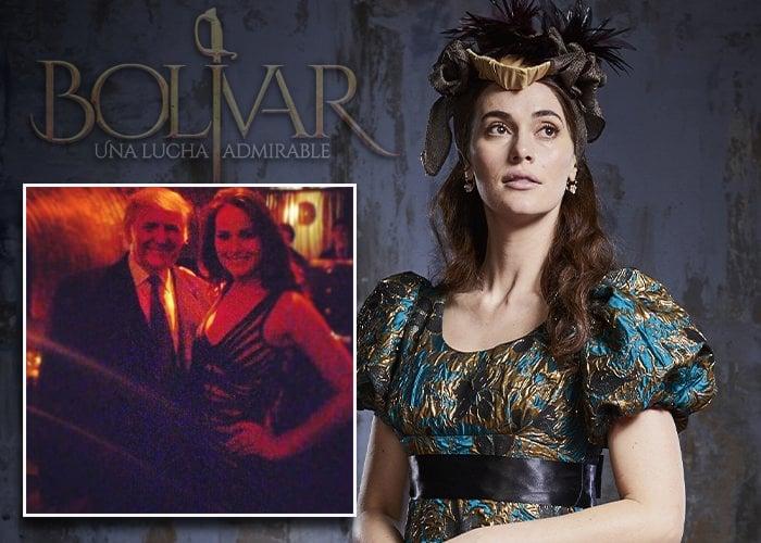 ¿Quien es la actriz venezolana consentida de Trump en la serie de Bolívar?