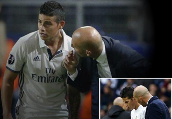 El plan de James para conquistar a Zidane