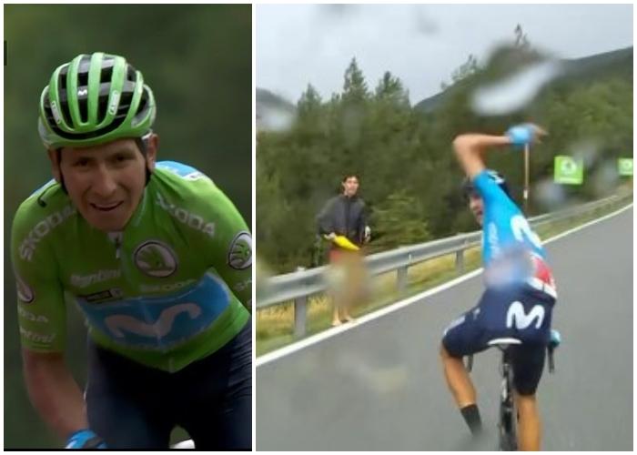 La rabia que le dio a un ciclista español trabajarle a Nairo en la Vuelta. Video