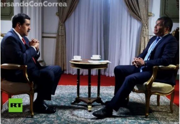 Rafael Correa con su nuevo rol, periodista de Putin