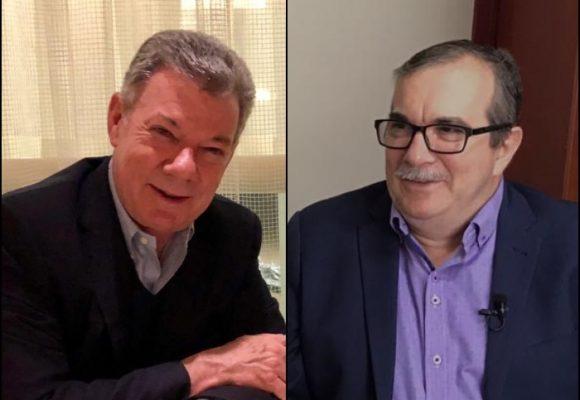 Santos y Timochenko reunidosen el apartamento de Iván Cepeda