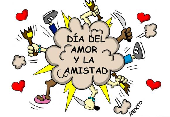Caricatura: ¿Día del amor y la amistad?