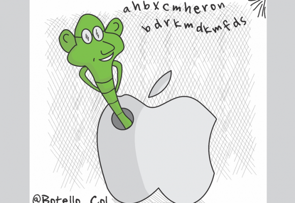 Caricatura: Las interceptaciones de Apple