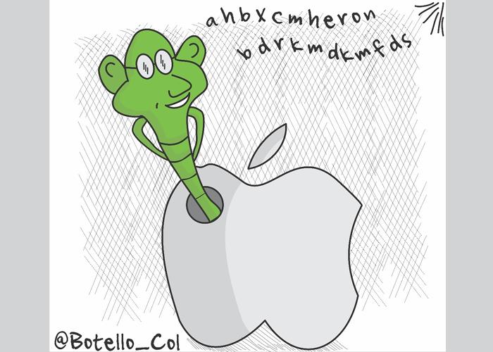 Caricatura: Las interceptaciones de Apple