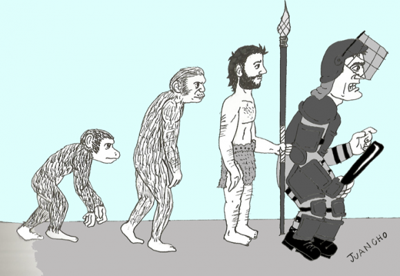 Caricatura: La barbarie del Esmad