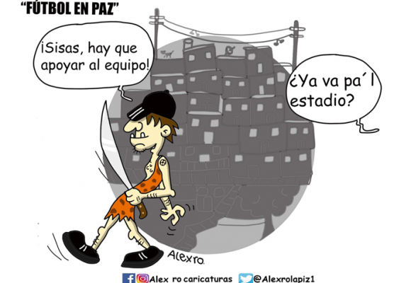 Caricatura: Fútbol en paz