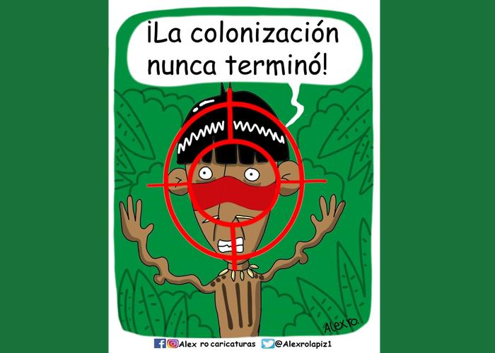 Caricatura: La colonización no terminó
