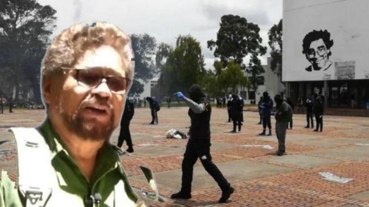 Iván Márquez condenó a muerte a los estudiantes de la Universidad Nacional