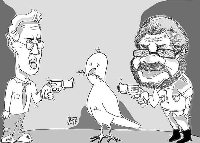 Caricatura: La paz en la mira