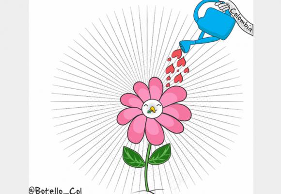 Caricatura: ¡Por una paz estable y duradera!