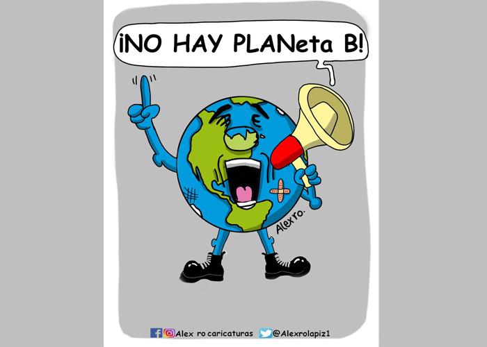 Caricatura: Marcha mundial por el clima
