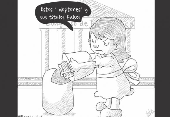 Caricatura: Sacando la basura