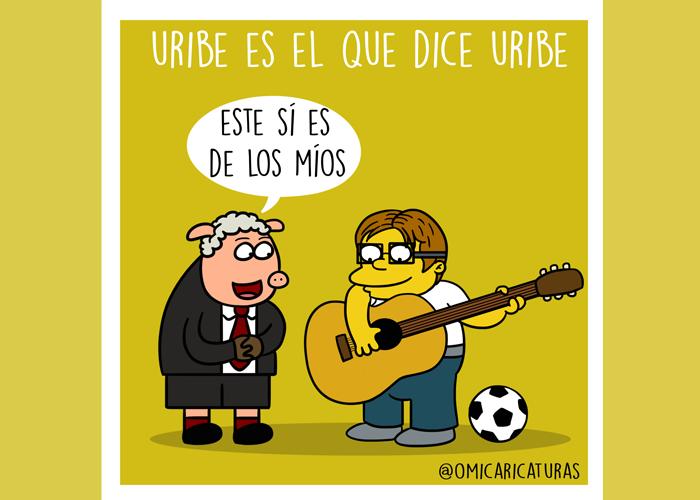 Caricatura: Uribe es el que dice Uribe