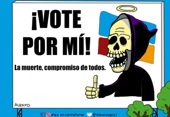 Caricatura: Vote por mí