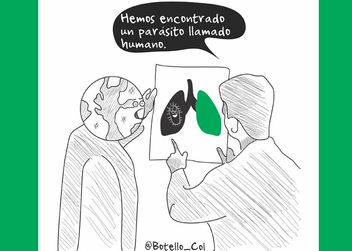 Caricatura: Un parásito llamado humano