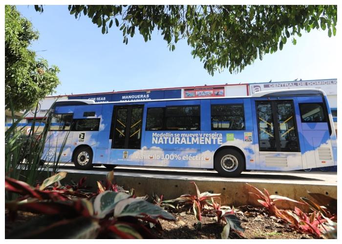 Así se ven los buses eléctricos que operarán en Medellín