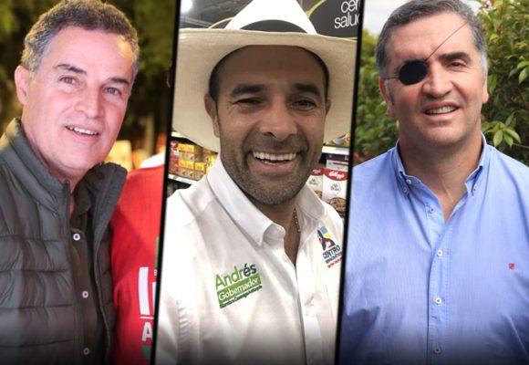 Gaviria puntea, Guerra cae y Tobón sube: intención de voto para la gobernación de Antioquia